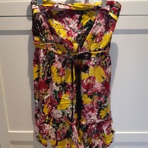 New Ripe Bright Floral Strapless Summer Dress